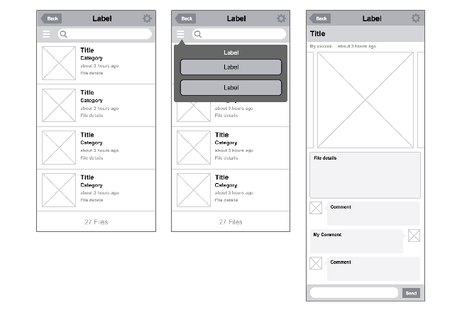 Wireframe 5, Official Cacoo Template