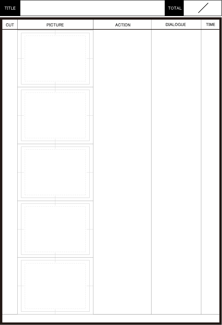 Japanese storyboard, Cacoo Template Created by 坂井孝介@Thinkgear