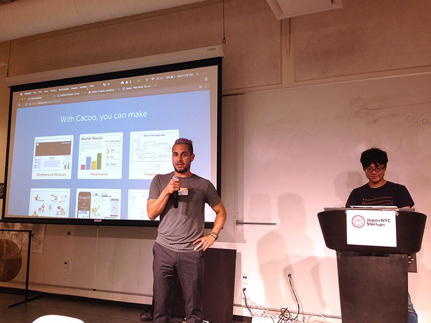 David Rivera and Ryuzo Yamamoto lead the Cacoo demo