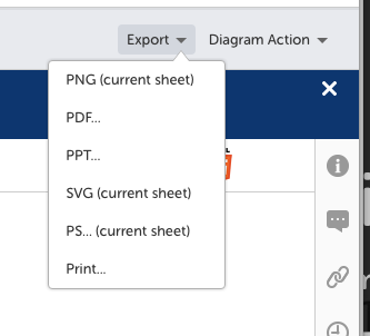 Export diagram from diagram viewer