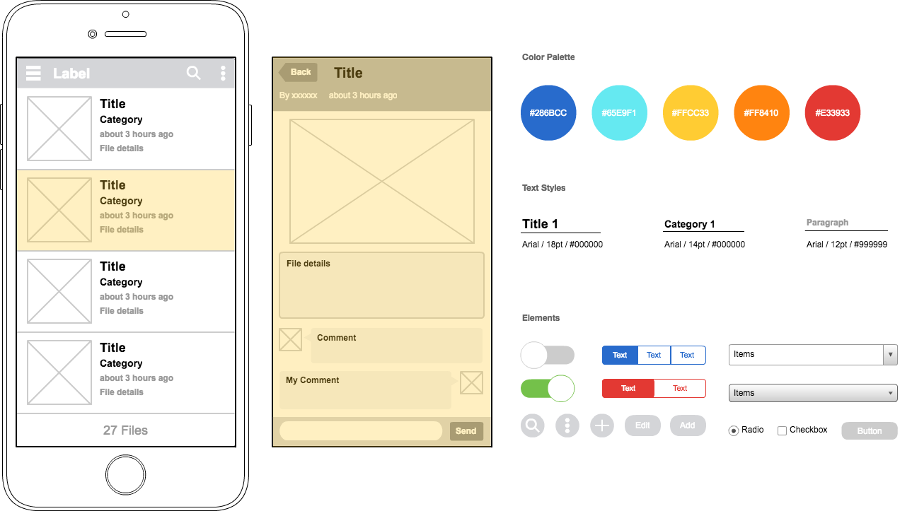 New diagram templates available in cacoo cacoo wireframe example ios mobile app wireframe ccuart Image collections