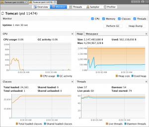 Memory Footprint Java 9 -Xmx2g -Xms2g