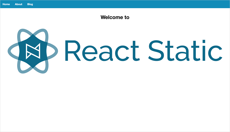 React Static Screenshot