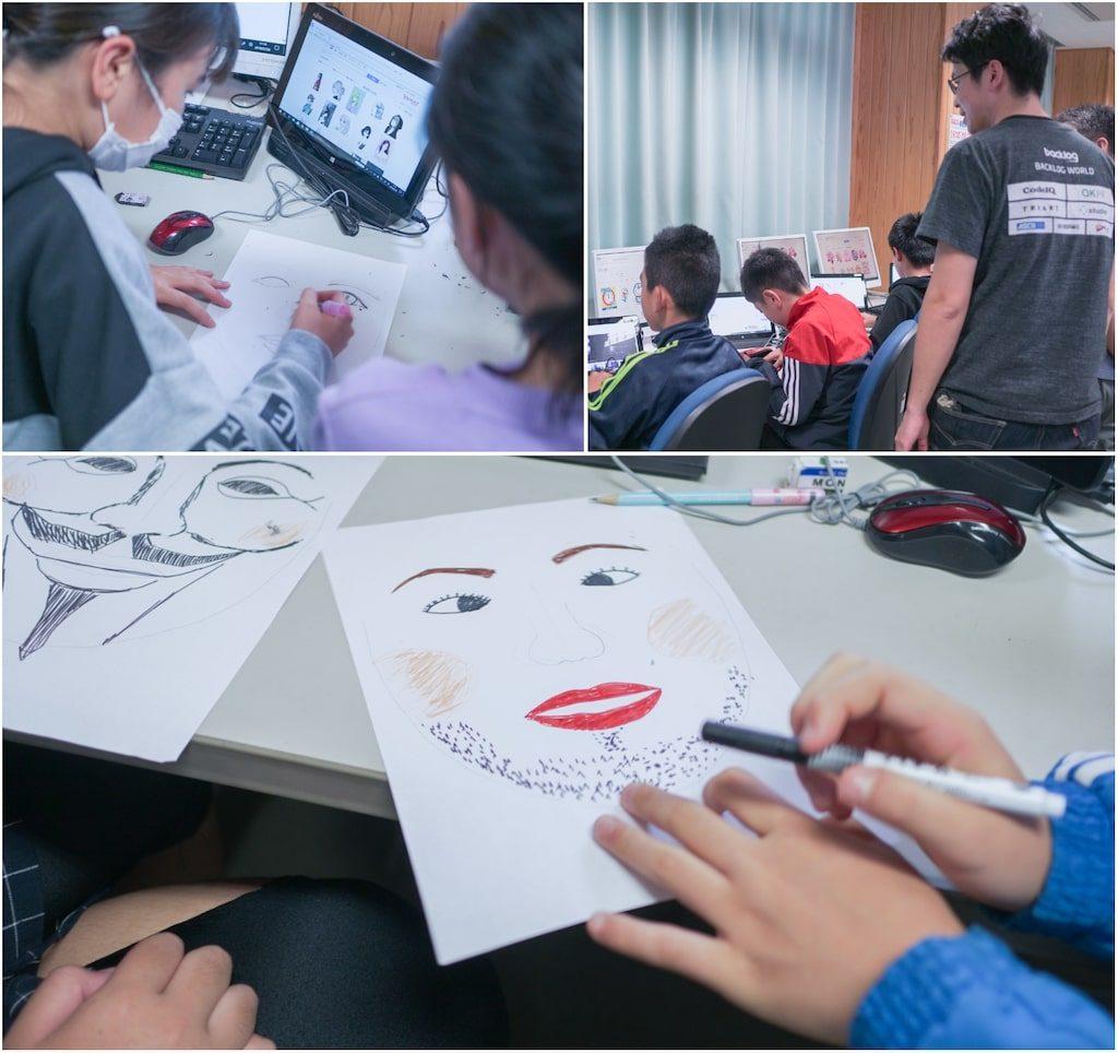 顔の絵を描くワーク
